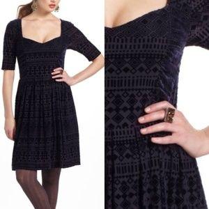 Anthropologie Meadow Rue burnout velvet dress